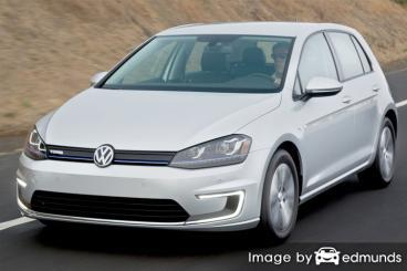 Insurance rates Volkswagen e-Golf in Virginia Beach